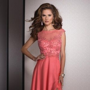 Authentic NEW Clarisse 2532 Coral Prom Gown